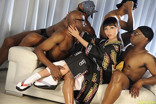 Marica Hase - Group Sex Marica With 4 Black Dick