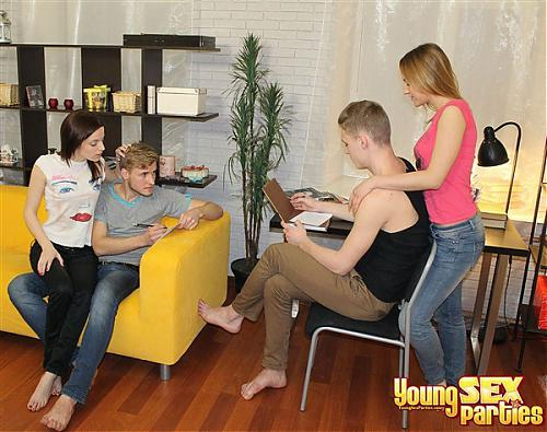 Dasha, Kseniya - Two guys fucking eager teens