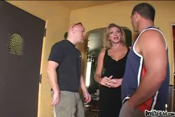Hot Threesome with Classy Shemale